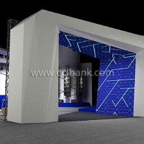 exhibition booth design DMX